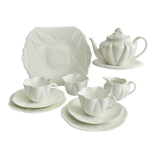 "Shelley ""Dainty White"" tête-à-tête tea service, 1910-1966"