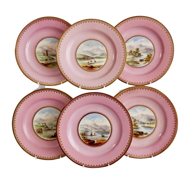 Set of 6 Bell Glasgow plates