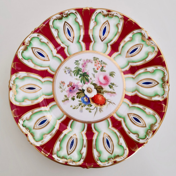 Samuel Alcock plate with flame pattern