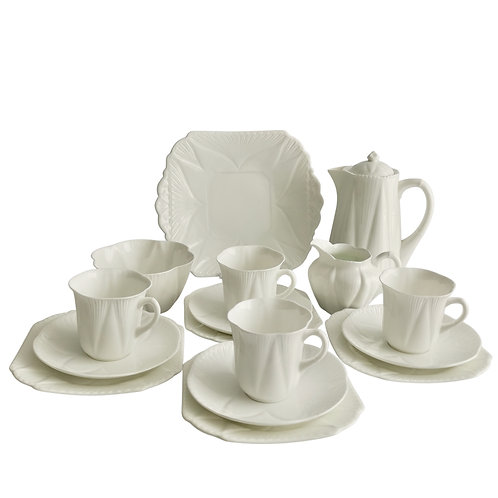 "Shelley ""Dainty White"" coffee service for 4, 1926-1940"