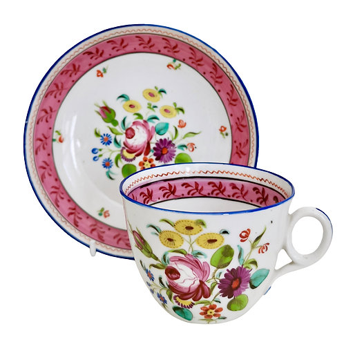 New Hall teacup, hybrid paste patt. 1180, ca 1815