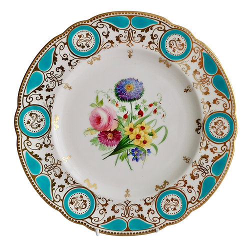 Sir James Duke & Nephews plate, flowers, Victorian 1860-1863 (2)