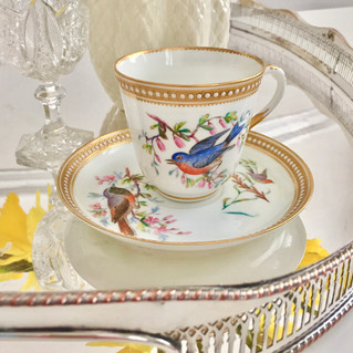 How many birds can you get onto a teacup? - Royal Worcester, 1868
