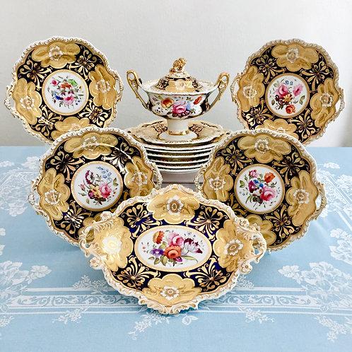 Stunning dessert service, Ridgway ca 1825