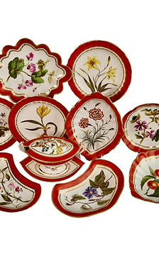 Derby part dessert service, botanical attr. to John Brewer, 1795-1800