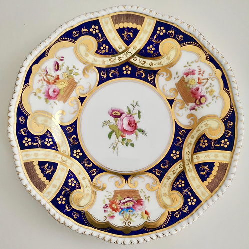 Coalport plate, Thomas Goode interest patt 5772 , 1891-1898