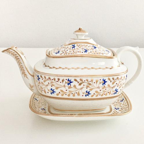 Rare teapot, Swansea coll.Sir Leslie Joseph, ca1815