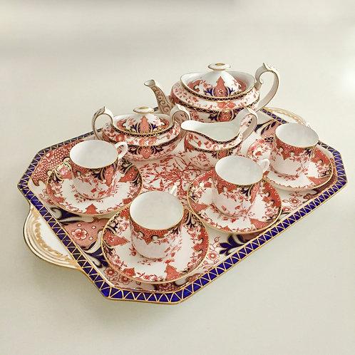 Cabaret tea set for four, Royal Crown Derby 1892