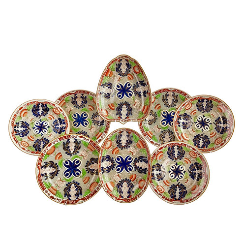 Wedgwood pearlware part dessert service, Chrysanthemum pattern, 1810-1895