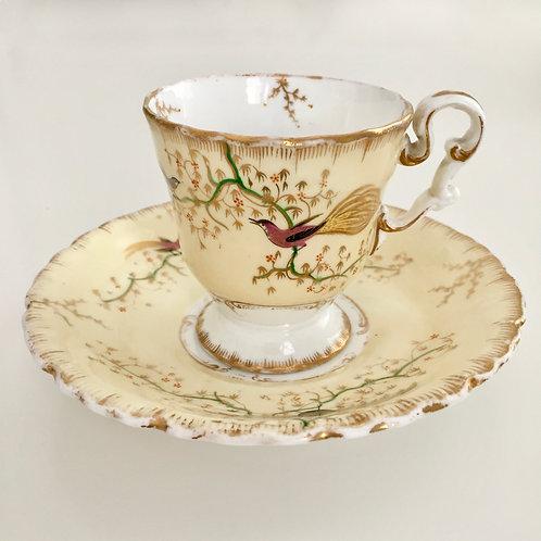 Coffee cup and saucer, Copeland & Garrett 1833-1847