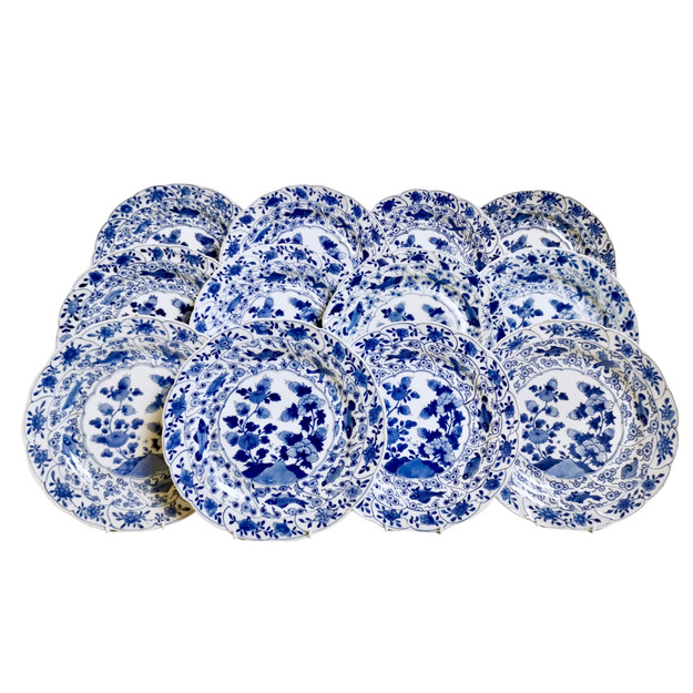 Set of 12 Yongzheng plates, Chinese Export 18th C