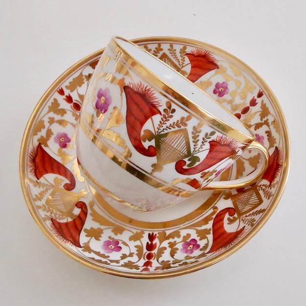 Coalport John Rose teacup and saucer, ca 1810