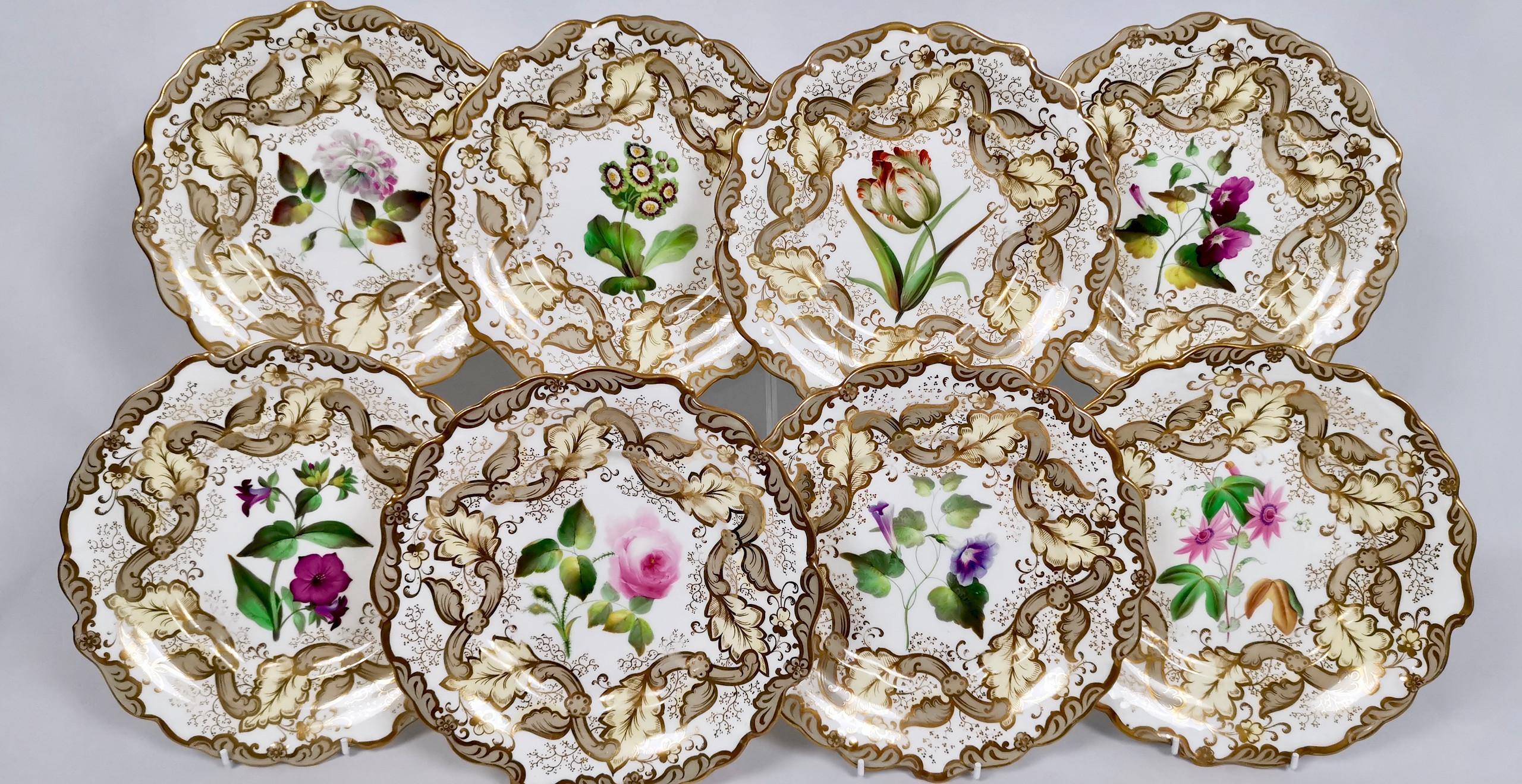 Samuel Alcock set of 8 plates