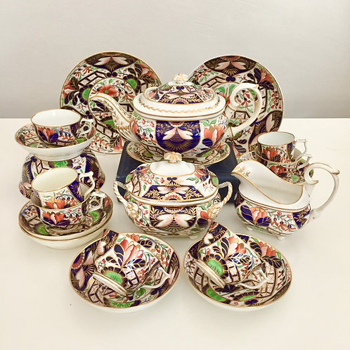 "Stunning tea service, Crown Derby ""Japan"" ca 1815"