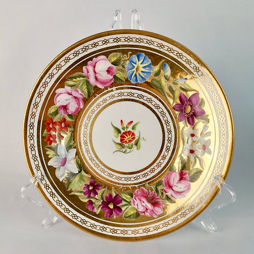 Coalport plate, Marquess of Anglesey service, ca 1820