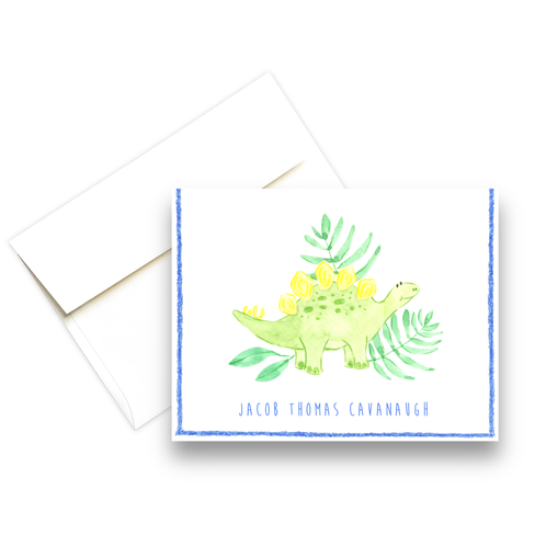 Stegosaurus Personalized Note Cards