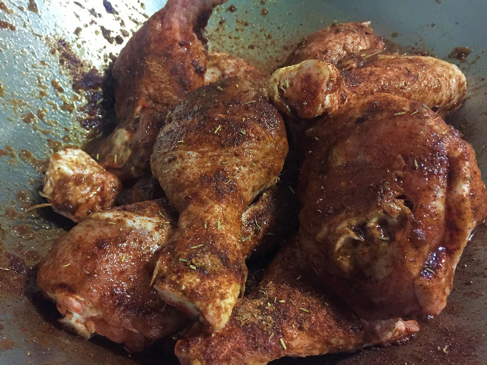 Beautiful Chicken Drumsticks marinated in MGK's Smoked Tomato Sauce, MGK Worcestershire Sauce and Smoked Meat Rub.