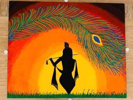 Krishna Feather Rangoli