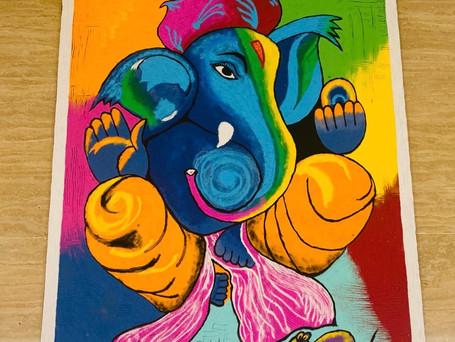 Ganesh Poster Rangoli