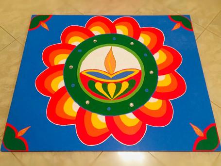 Diya Flower Rangoli