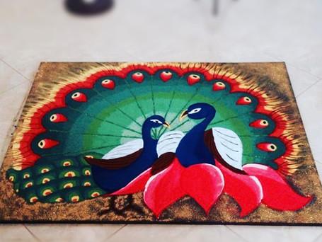 Peacock Lotus Rangoli