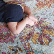 Every 🏠  needs a carpet. _And a baby 😊
