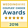 2016 Wedding wire Couples Choice winner