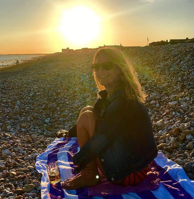 WithTracyB enjoying the sunshine on the beach