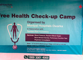 Health Check Camp; Manipal Hospital