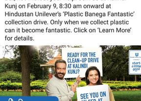 Clean Yamuna - Plastic Banega Fantastic Campaign 09 Feb 2019