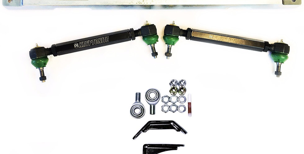 KRYPTONITE SS SERIES CENTER LINK AND TIE RODS w/ PISK KIT PACKAGE