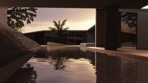 Main Pool Facing Yoga Hut