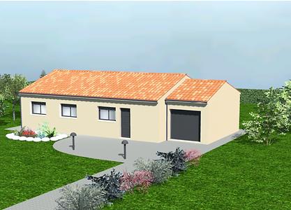 GINKGOBAT construit modèle Orme avec garage, vue avant