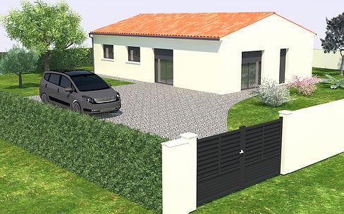GINKGOBAT construit modèle Tilleul, vue avant gauche