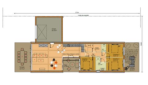 GINKGOBAT construit modèle Shaina, vue en plan c