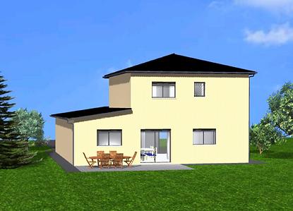 GINKGOBAT propose modèle Baobab toit mixte, vue arrière