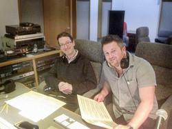 James Clarke with Llyr Williams