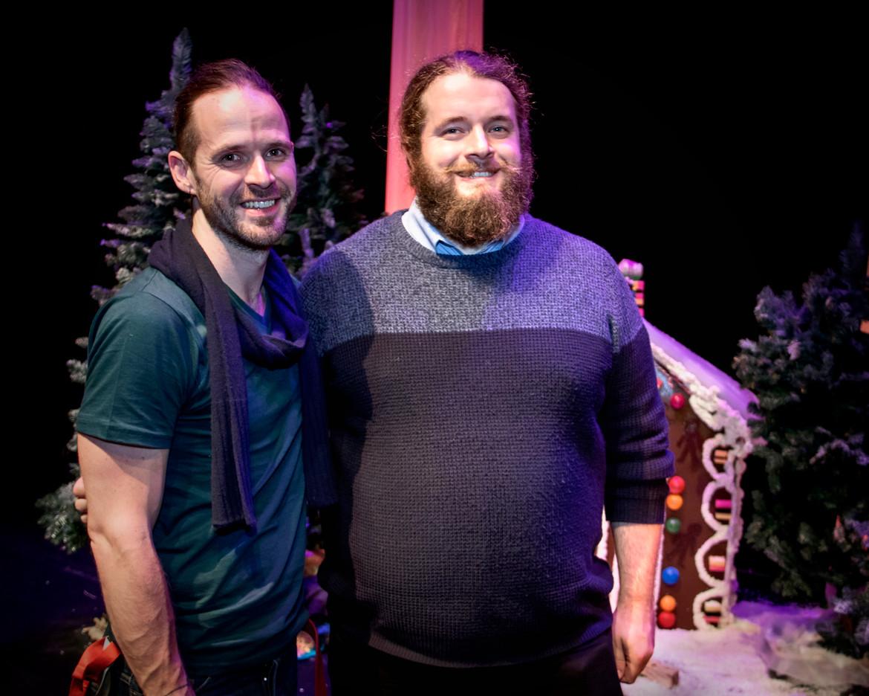 David Roche with director Jon Dafydd Kidd