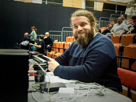 David Roche in rehearsal