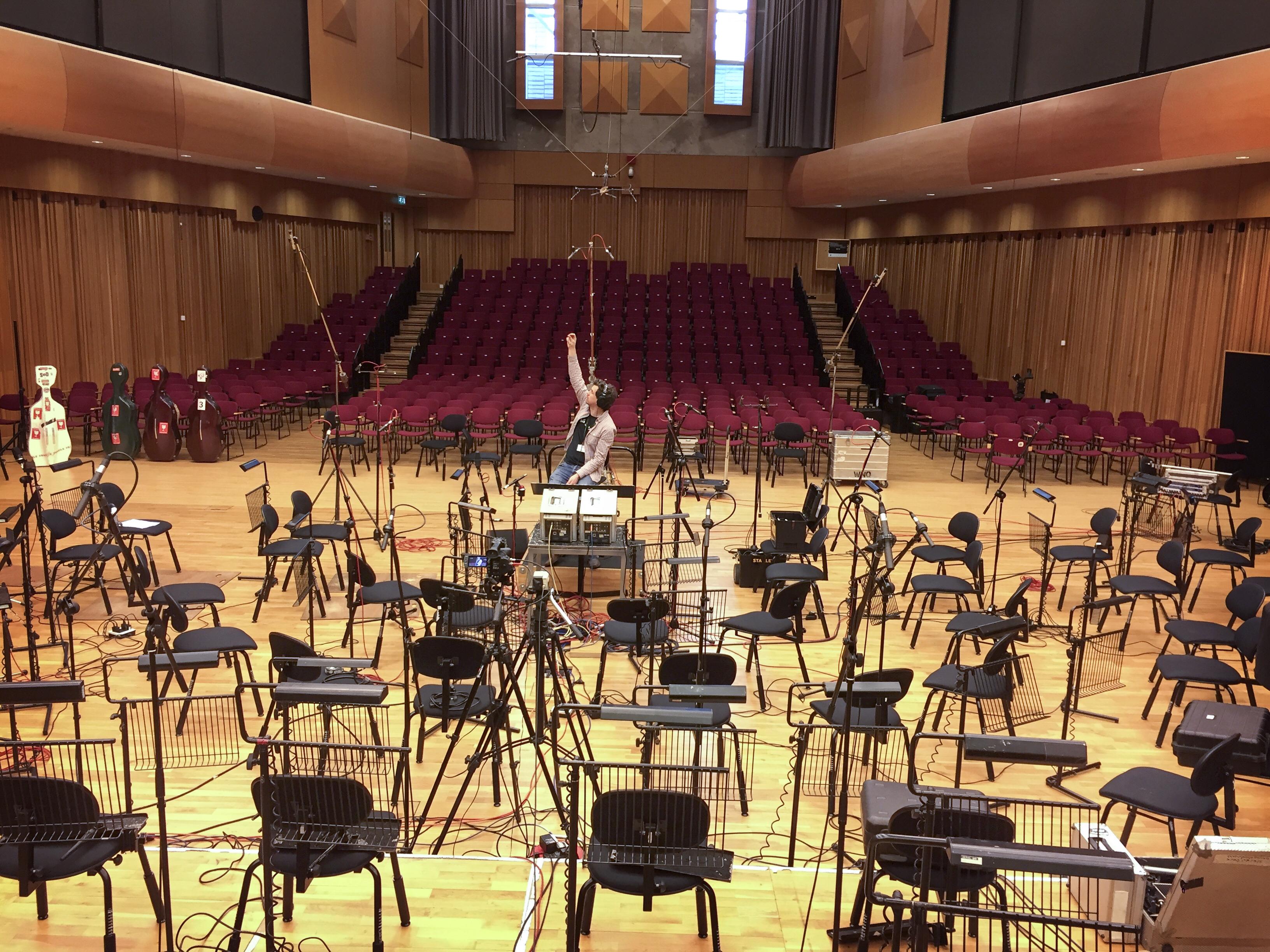 sound check BBC Hoddinott Hall