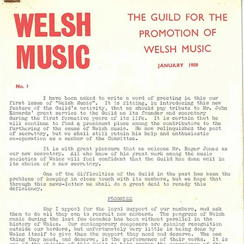 JOURNAL OF WELSH MUSIC