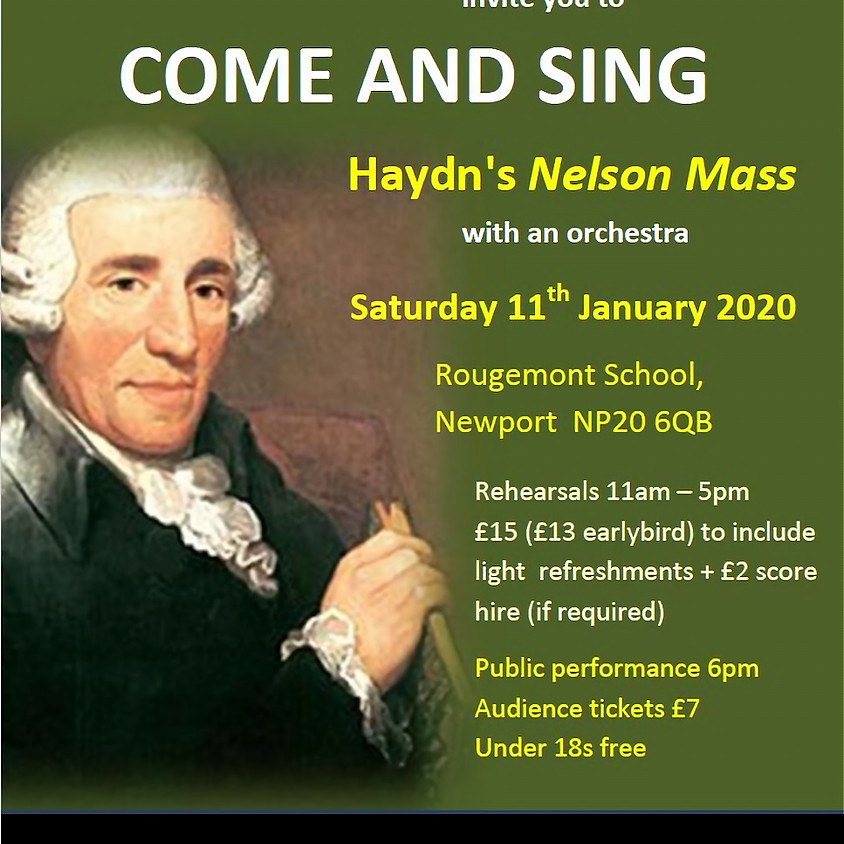 Come and sing Haydn's 'Nelson Mass'
