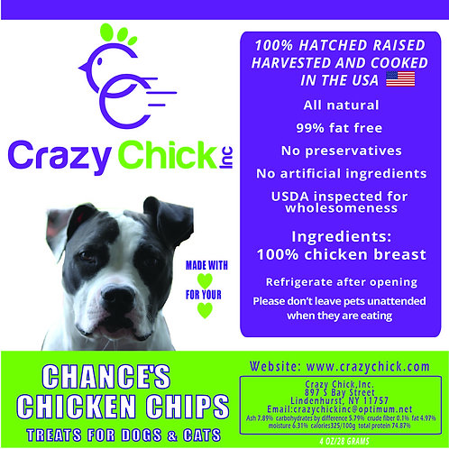 Chicken Chips for Pets 4oz