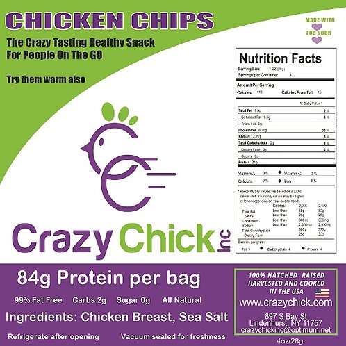 """Chicken Chips for People """"Salted"""" 4oz"""
