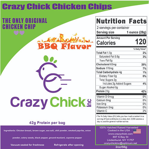 BBQ Flavor Chicken Chips 2 oz