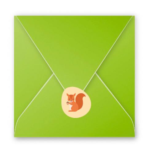 Stickers enveloppes écureuil