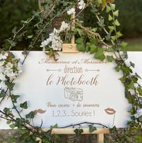 Panneau mariage photobooth