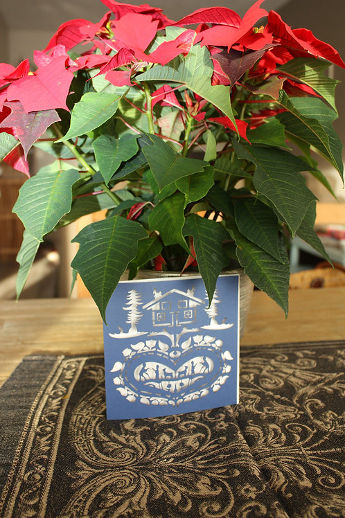 Carte de voeux motif Poya
