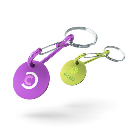 Porte-clé jeton de caddie