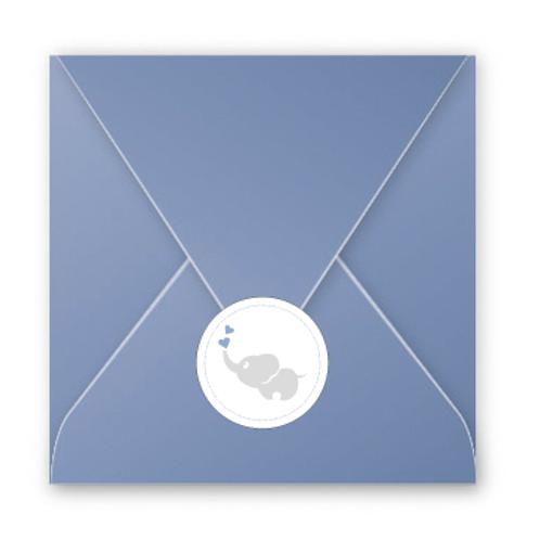 Stickers enveloppes coeur éléphant
